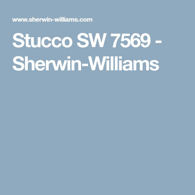 Stucco SW 7569 - Sherwin-Williams