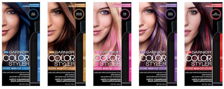 Sneak Peek: Garnier Color Styler Intense Wash-Out Color for Hair #ColorStyler