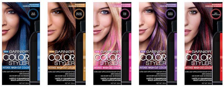 Sneak Peek: Garnier Color Styler Intense Wash-Out Color for Hair #ColorStyler