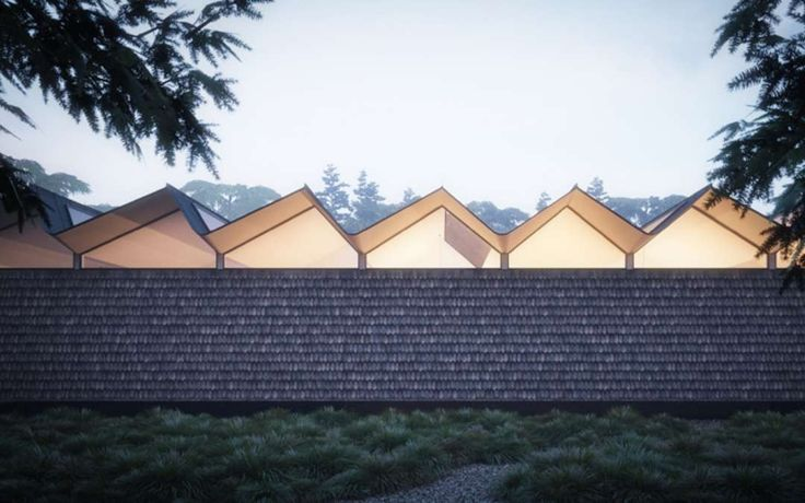 The vernacular style of saw-tooth roofs first emerged in the 19th century, before the days of artificial light, when the dual-pitched ridges with angle-glaze...
