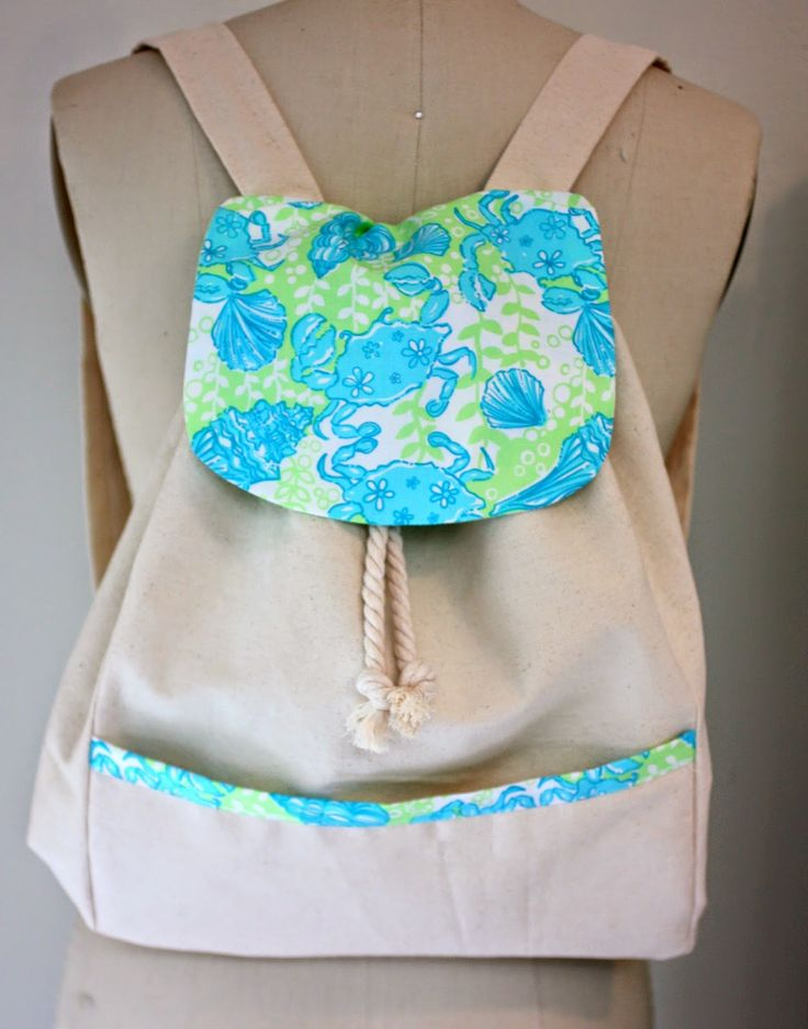DIY Lilly Pulitzer canvas back pack tutorial and pattern…