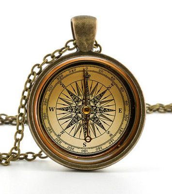 Vintage Compass Pendant Necklace Old Fashioned Antique Style Picture Jewelry | eBay