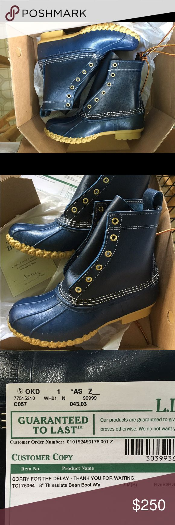 LL Bean Boots - Raven (navy) blue - size 7 Hard to find color - brand spanking new in box - perfect for the upcoming fall and winter weather! L.L. Bean Shoes Winter & Rain Boots