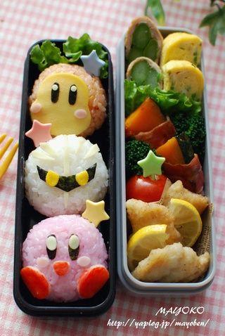 Kirby onigiri bento