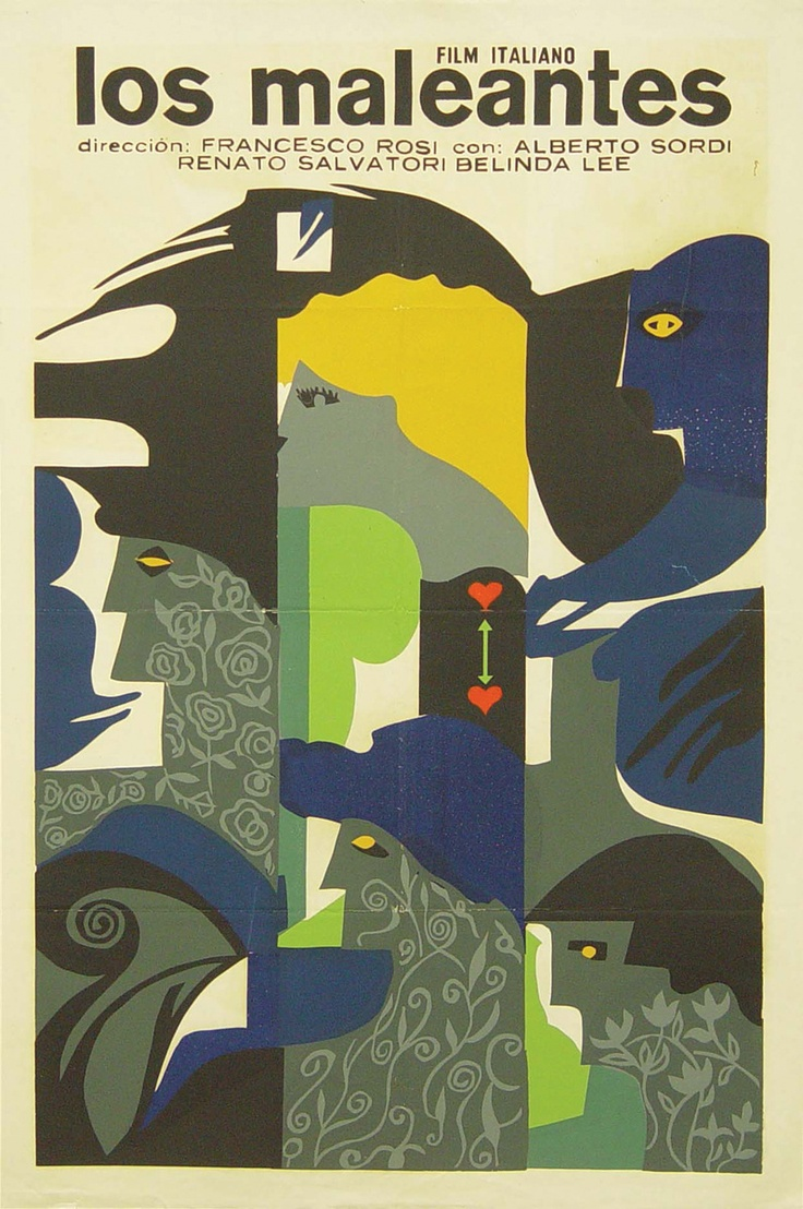 Poster design w graff - The Magliari Francesco Rosi 1959 Cuban Design By Rene Azcuy Cardenas