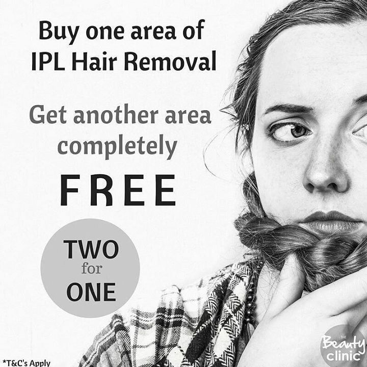 It's your last chance this year... TWO for ONE IPL Hair Removal. One area completely Free. Yes just a whole other area FREE because we want to share the joy of being fuzz free! Join us now