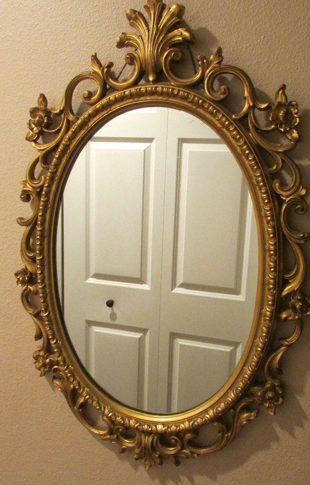 Vintage Bassett Mirror Co Rococo Style Gold Floral Design Wall Mirror Rococo Bassettmirrorco Rococo Style Bassett Mirror Mirror Wall