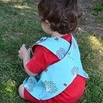 Reversible tunic with apple trees, size 1/2, 2/3, 4/5, Red Dot Stitches