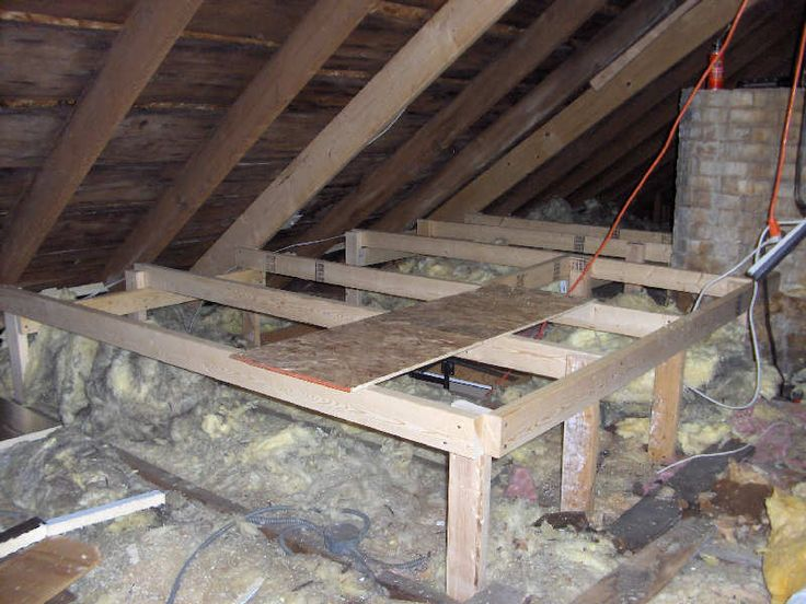 Attic Storage Platform For Blown In Insulation House