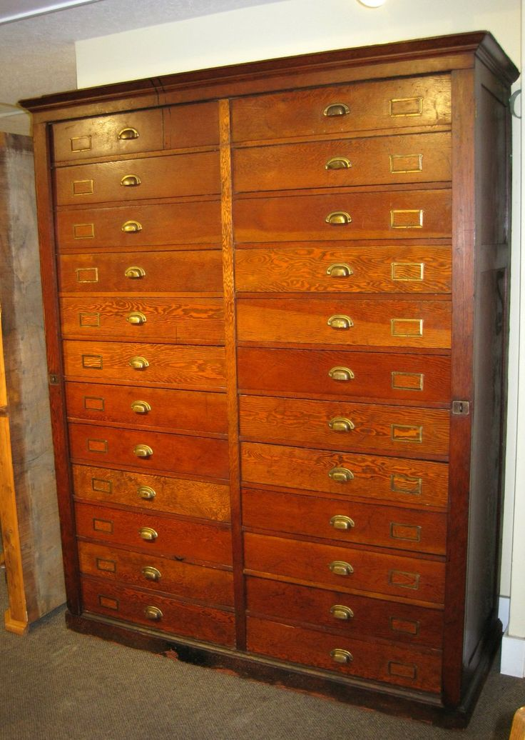 Sold This Amazing Vintage Fir 24 Drawer Cabinet Is Just At Charmaine 39 S Past And