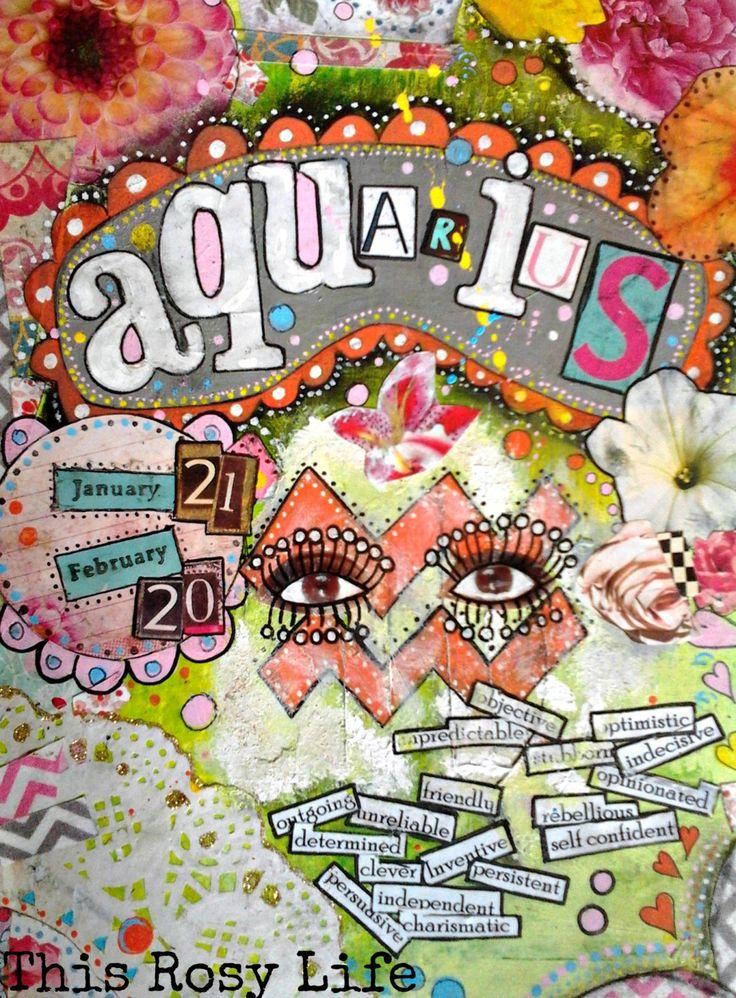 Aquarius art print, Aquarius art, zodiac art. by ThisRosyLife on Etsy