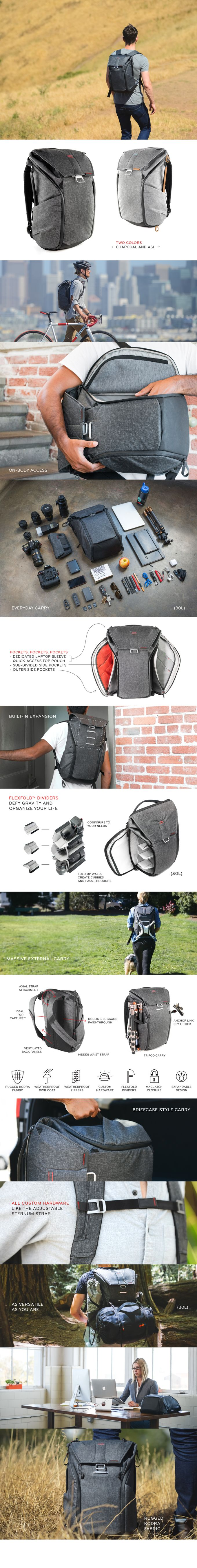 The world's best everyday bags. Designed by photographers to revolutionize camera carry, but built for everyone to organize your life.