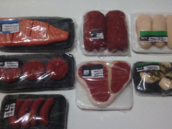 delicious grocery and meat for an 18 inch doll by SweetLoverShop