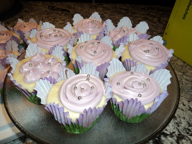 Cup Cakes I made for mom's Birthday