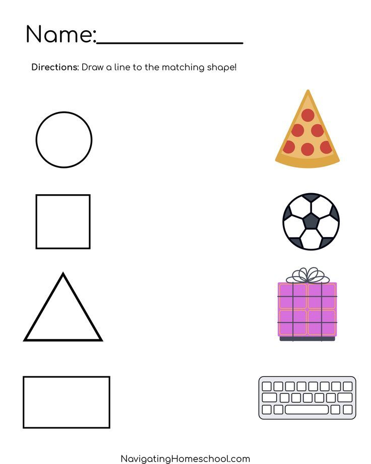 Join With Images Shapes Preschool Shape Worksheets For