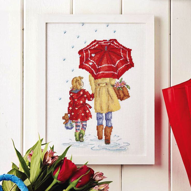 RAINY DAYS - Available in CrossStitcher Magazine 289