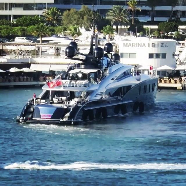 216ft OKTO Yacht in Ibiza Spain  - ( by @carolfeith)  via LUXURY LIFESTYLE MAGAZINE OFFICIAL INSTAGRAM - Luxury  Lifestyle  Culture  Travel  Tech  Gadgets  Jewelry  Cars  Gaming  Entertainment  Fitness