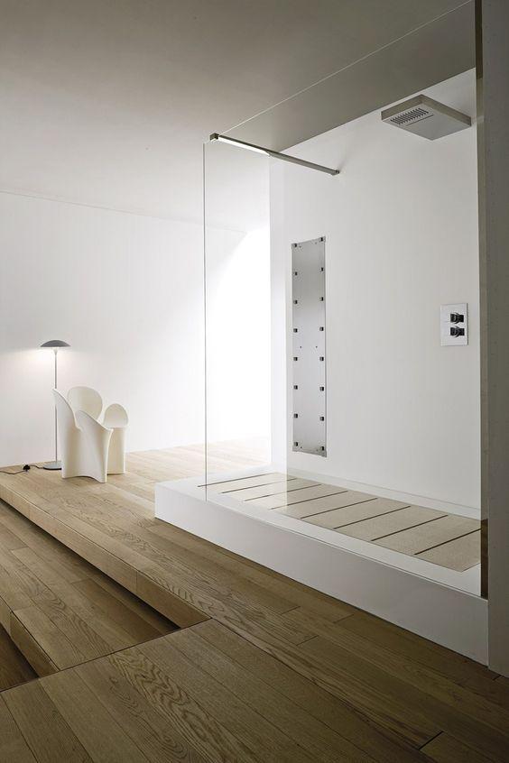 Baignoire encastrable en Korakril™ avec douche UNICO   Baignoire avec douche - Rexa Design