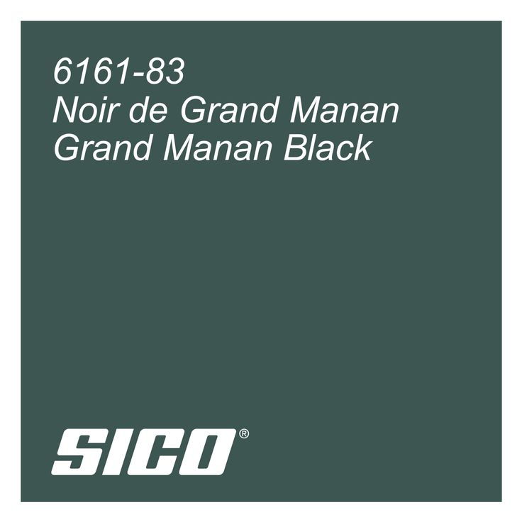 Grand Manan Black paint colour by Sico Paints | Noir de Grand Manan, couleur de peinture par Sico