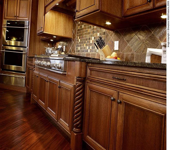 Lovely Rope Turned Lyptus Hardwood Columns, Designed By Showplace Cabinetry.