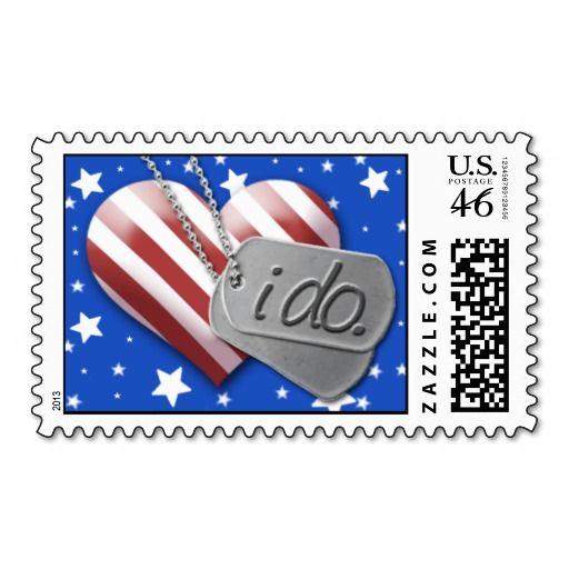 Military Wedding Invitation Postage Stamp.
