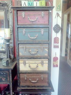 Oh I want this! What a great piece for a craft room!!!! I want to put ...