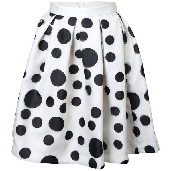Na'ara Black and White Polka Dot Skirt (€93) ❤ liked on Polyvore featuring skirts, bottoms, white, white polka dot skirt, black and white polka dot skirt, white and black polka dot skirt, white black skirt and black white polka dot skirt
