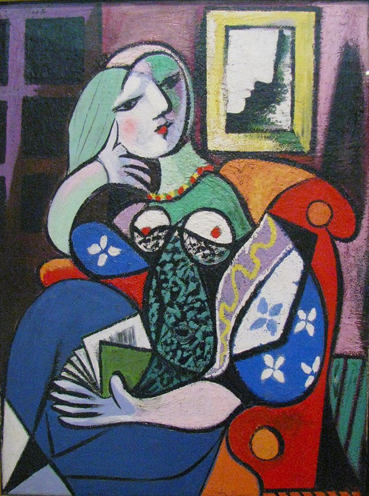 Woman with Book by Pablo Picasso | Lone Quixote | #PabloPicasso #picasso #cubism…