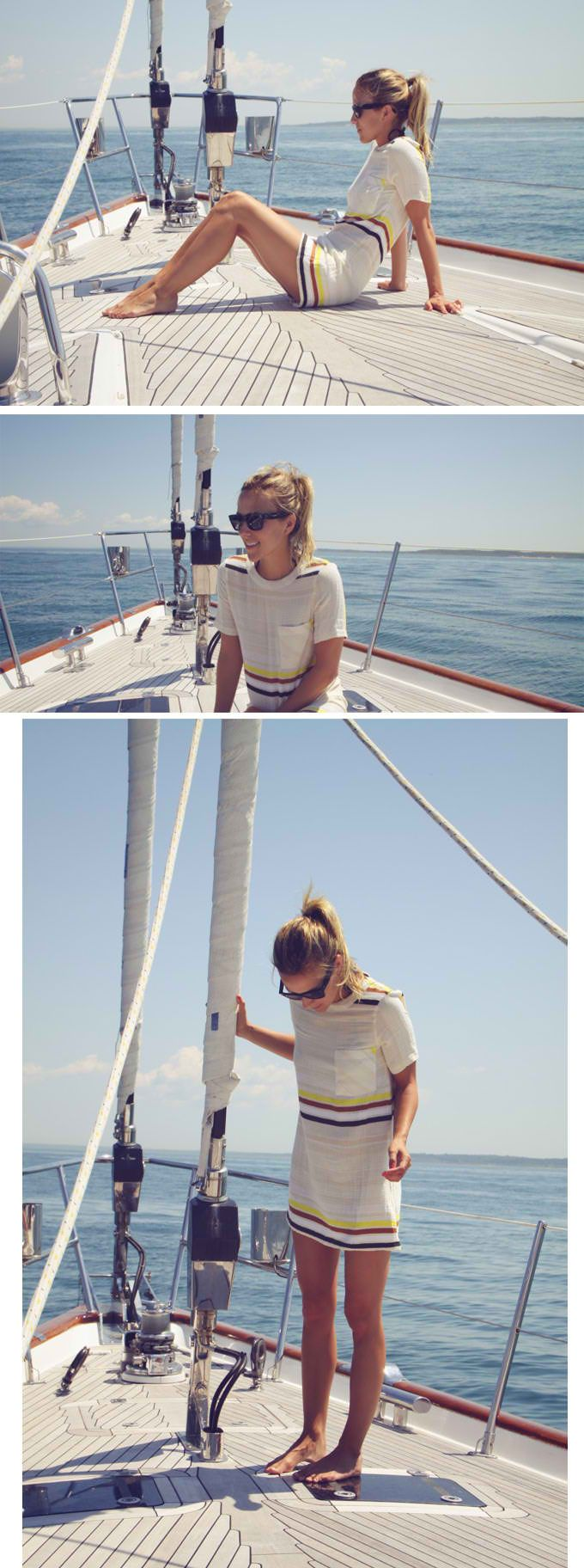 Picturing me on my dads sail boat next summer. Time out - a blonde on a sail boat?!
