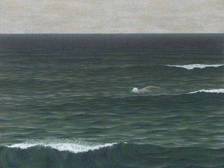 "blue-voids: "" Alex Colville - Swimmer, 1962 """