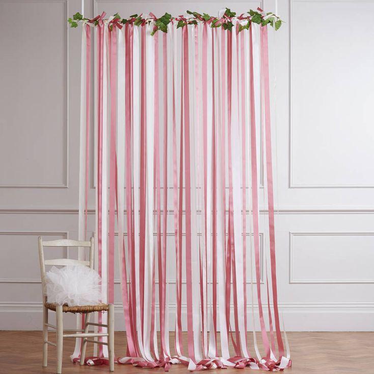 Pink And Cream Wedding Backdrop. Ribbon CurtainRibbon ...