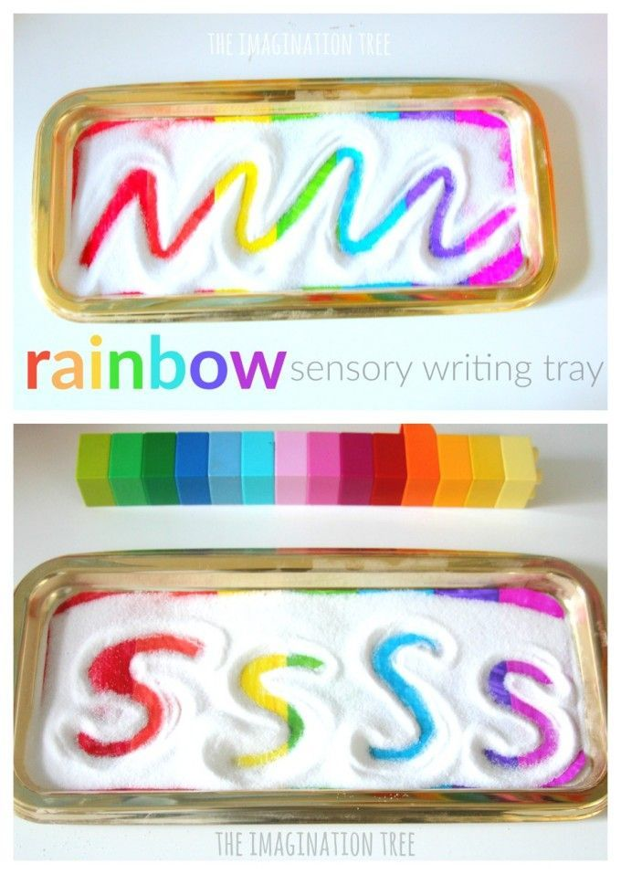 Rainbow sensory writing tray for early writing skills