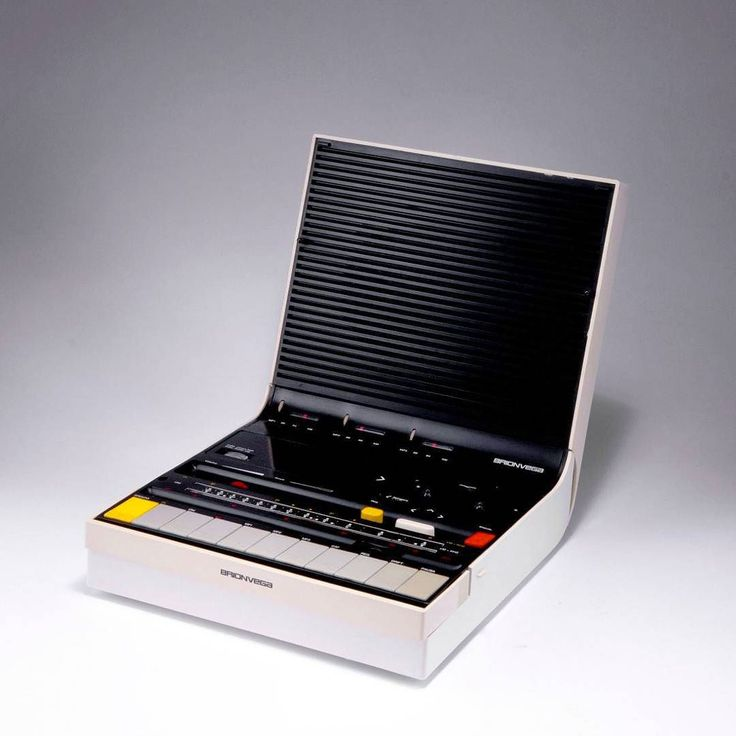 Brionvega Soundbook. (1974) Cassette recorder and radio designed by Richard Sapper & Marco Zanuso. Iconic design that was way ahead of it's time. by nightliquid_retro.inc