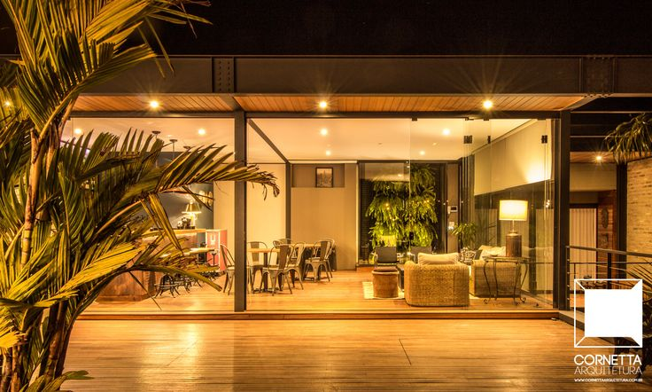 Projeto para loft em estrutura metálica, madeira e vidro e área de lazer com terraço. #cornetta #arquitetura #architecture #estruturasmetalicas #loft