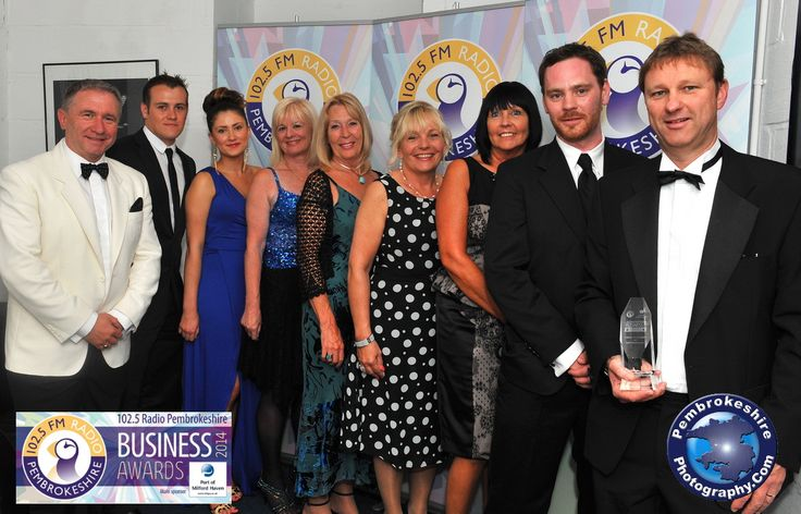 The fbm team picking up the Customer Service Award at the Pembrokeshire Business Awards