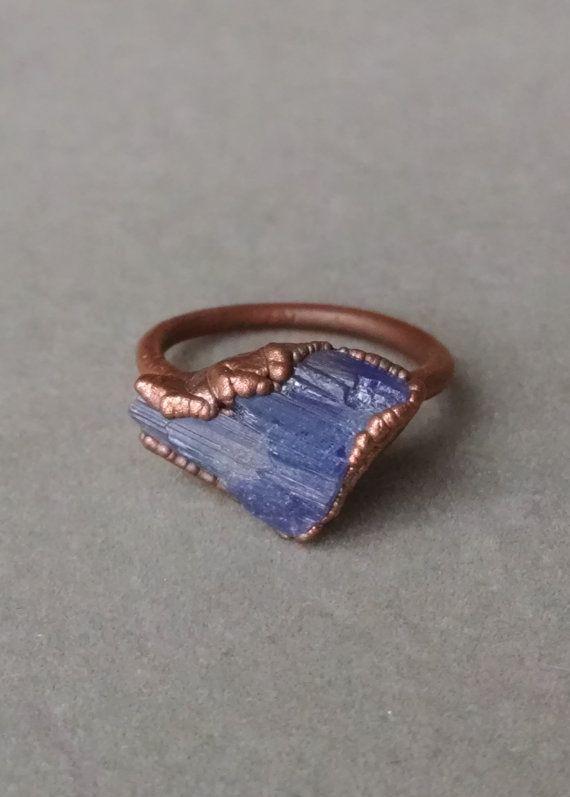 Tanzanite Ring Tanzanite Jewelry Raw Stone by PowerstoneJewelry1