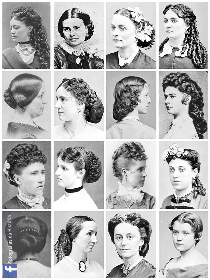 Penteados e cabelos vitorianos   – Vintage style