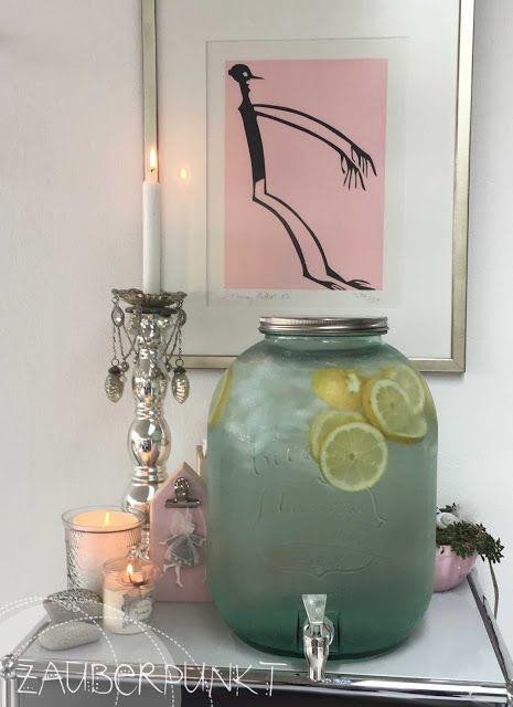 Wasserspenderglas XXL, frisches Wasser