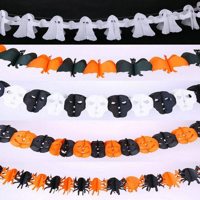 Halloween Suprimentos de Papel Pendurado Abóbora Fantasma Bat Crânio Engraçado Porta Cabide Dobrável Divertido Festa de Halloween Adereços Decoração