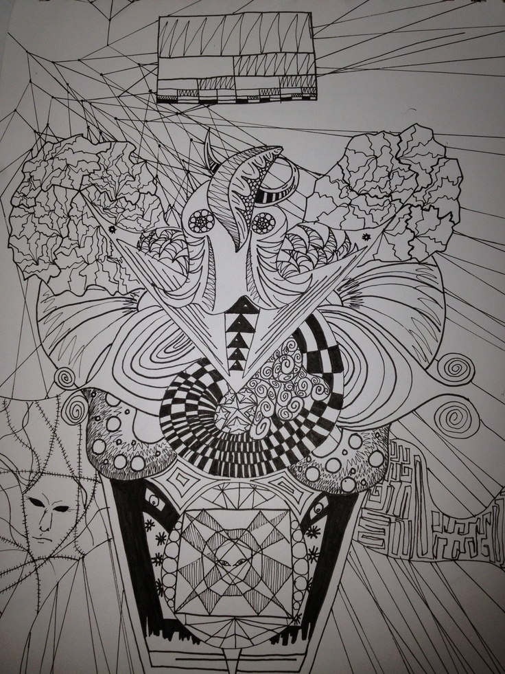 Octo-tangle done with pen