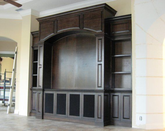 Built in Entertainment Centers | Hand Made Contemporary Entertainment Center by Gideon's Cabinet & Trim ...