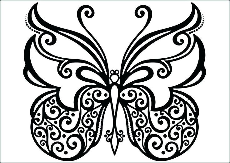 Complicated Butterfly Coloring Pages Butterfly coloring