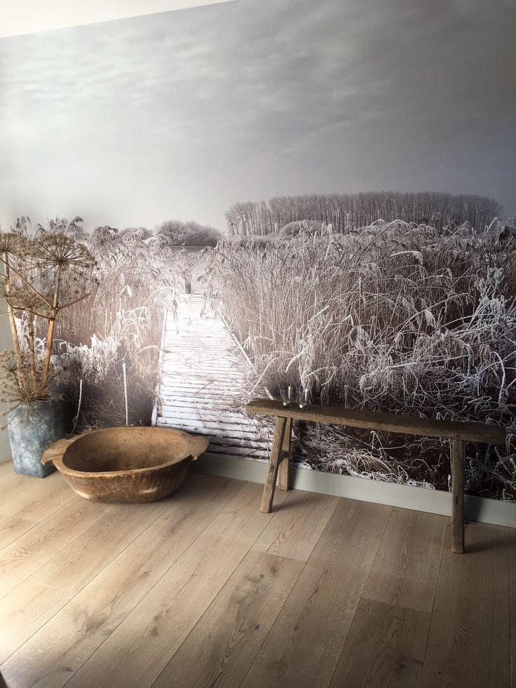 @tinedijkstra liet behang maken van mijn foto, prachtig! #terherne #vakantieinterherne #fotobehang #interieur