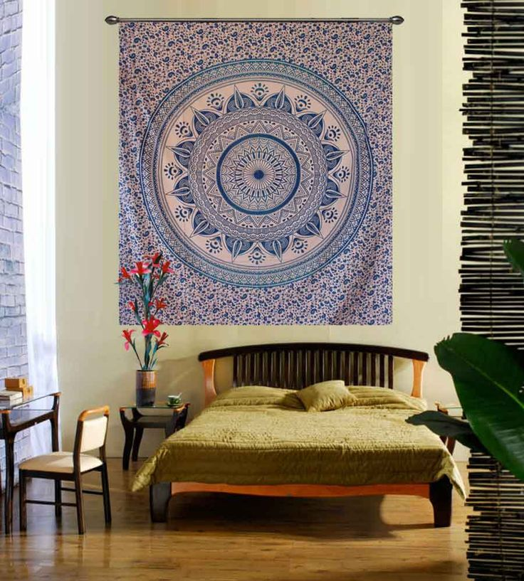 Blue dome hippie wall tapestry. Perfect for topping a bed, couch, wall or your favorite chair.This Wall Tapestry can also be used as a: - Tapestry or a Wall Hanging, Bedspread, Bed Cover, Table Cloth, Curtain, Dorm Decor, Picnic Sheet Add an ethnic feel to your room with this cotton handmade wall hanging.