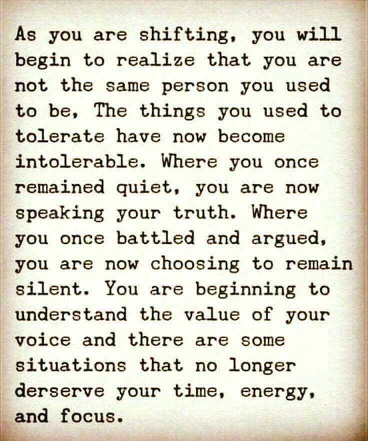 ..you are beginning to understand the value of your voice..