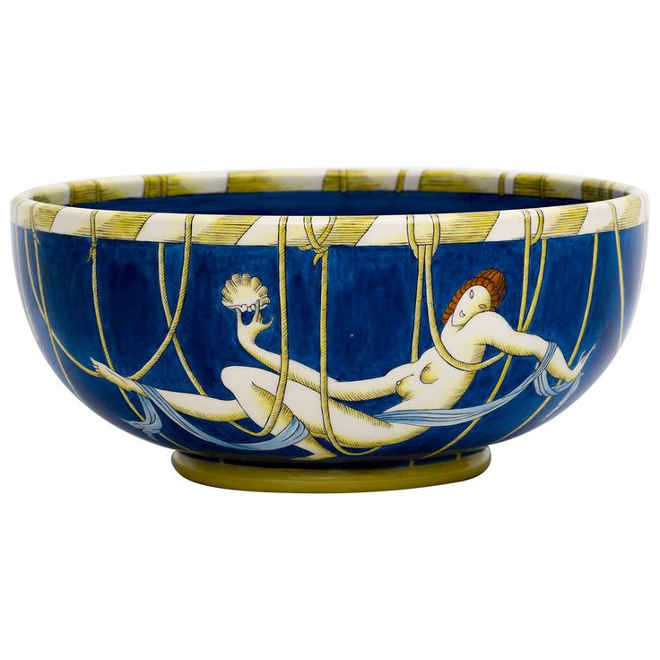 "Gio Ponti ""Domitilia"" Large Ginori Italian Ceramic Bowl 