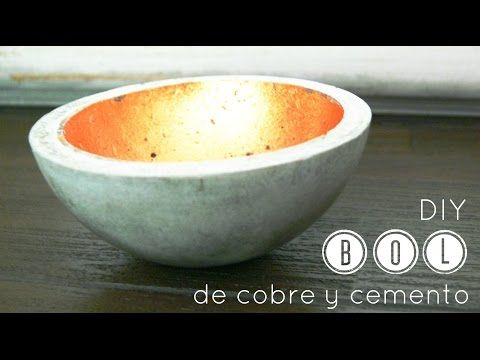 Manualidades y tendencias: Cómo hacer bol de cemento / How to make a concrete…