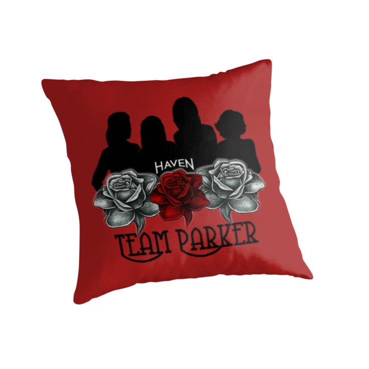Haven Syfy Inspired Pillow |  Haven Team Parker Sides Of Audrey Black Logo
