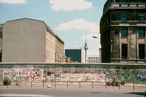 The Wall before it was torn down, Berlin, Germany