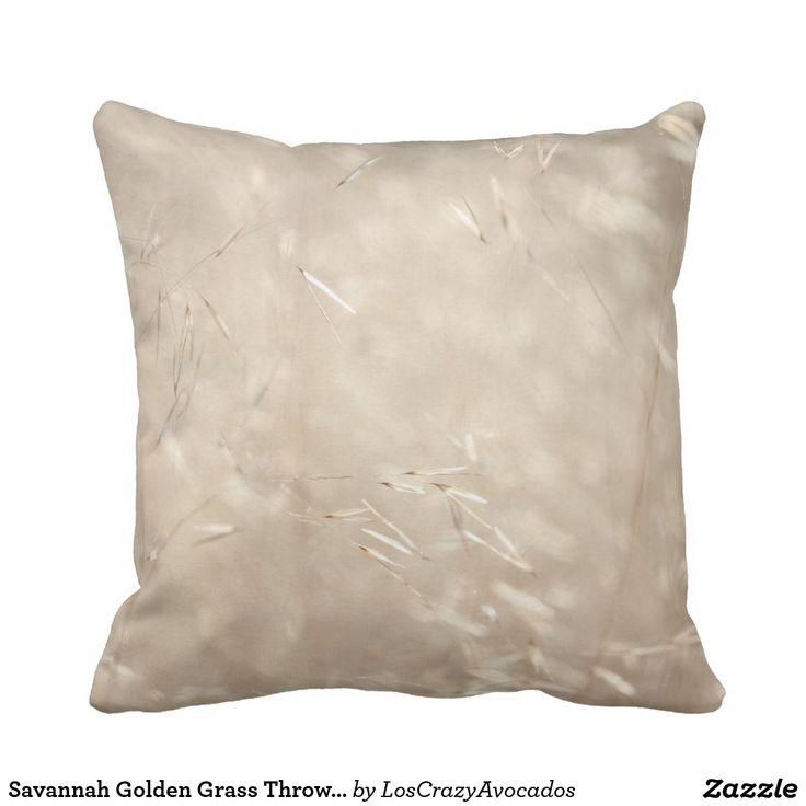 Savannah Golden Grass Throw Pillow / Cushion